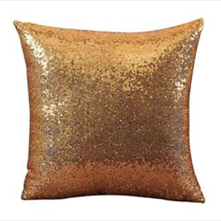 Gold sequin Cushion Cover