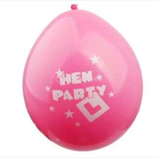 Hen night round balloon