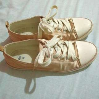 H&M Rose Gold Sneakers