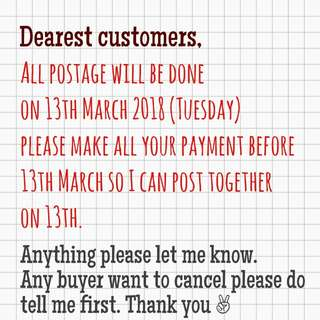 [NOTICE] TO ALL MY BUYERS