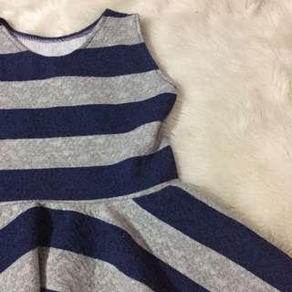 Blue and gray dress