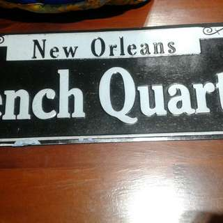 Road sign souvenir New Orleans authentic from US
