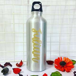 Customisable bottle calligraphy anniversary monthsary Day gift gifts present presents Friend friends friend's birthday party set Boyfriend Girlfriend teacher customised water waterbottle Personalised wedding bridesmaid colleague colleagues farewell