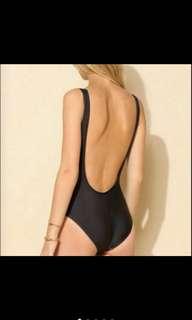Black Low Back One Piece Swimsuit