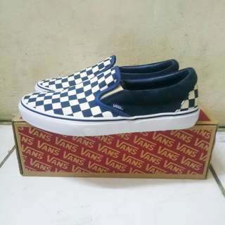 Vans Slip on Checkerboard Navy