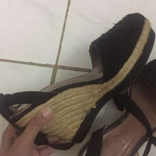 Wedges black charles and keith