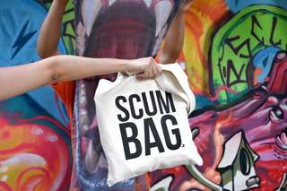Scumbag Tote Bag Totebag by Singaporean Illustrator: Laugh And Belly Funny Design Puns Humour