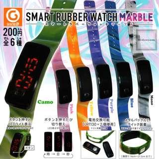 {MAR Gacha PO} スマートラバーウォッチ マーブル SMART RUBBER WATCH MARBLE 6pcs set