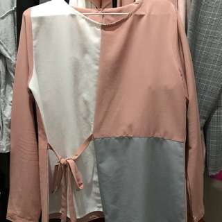 Ada Woman Top Pink Grey White