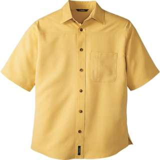 Cabela's Men's Glen Canyon Short Sleeve Yellow Plaid Shirt