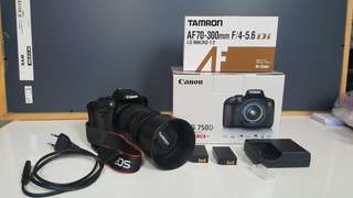 Lightly used new Canon 750D