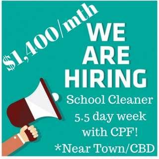 2 Vacancies! Easy Cleaner Job! (5.5day week)