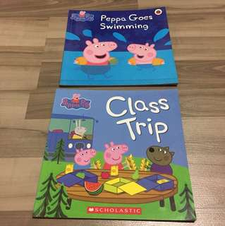 Peppa goes swimming and class trip peppa pig book