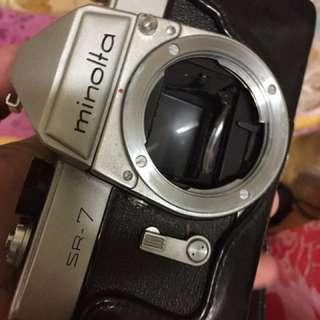 🚚 底片 機械 單眼相機 Minolta Sr7 含皮套