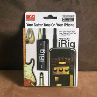 Amplitube iRig Guitar Interface Converter For iPhone / iPad / iPod