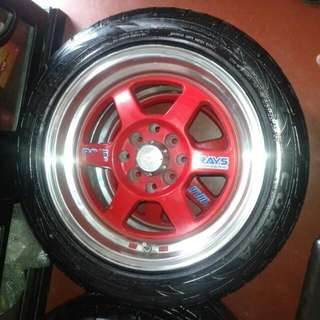 Sporty rim with tyre
