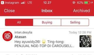 Penjual nge-top di caraousell karena dapet feedback positif