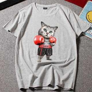 Boxing Cat Tough Love T-Shirt - Unisex