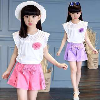 Kid Girl Cute Korea Style Summer Dress Casual Wear Clothing
