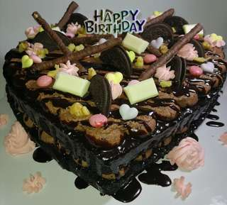 Chocolate heart cak