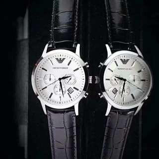 品名:ARMANI/阿玛尼男士腕表 型号:ar2432/ar2433 表壳:316L精钢 表带:进口牛皮皮带 尺寸:43mm*10mm优雅时尚,气质典范!( 由於只能發送四張照片更多型號私聊)