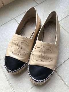 Chanel espadrilles 真皮草鞋 classic colour size37