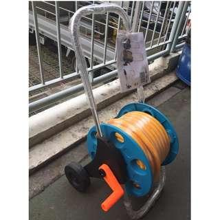 25m Garden Hose Reel Set c/w Air Hose and nozzle set. Brand New!