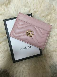 Gucci GG Marmont leather card holder-Pink
