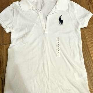 🚚 Ralph Lauren白色polo無釦上衣