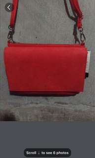 H&M Red Leather Sling Bag