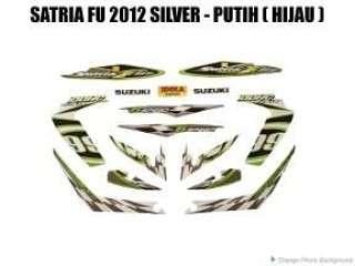 Striping Satria FU 2012 Silver - Putih ( Hijau )