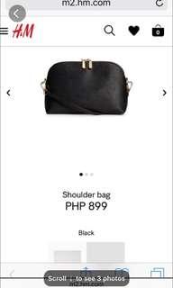 H&M Black Leather Sling Bag