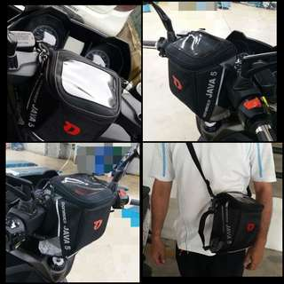 JAVA 5 Quik Release Handlebar Bag for Scooter & Motorbike
