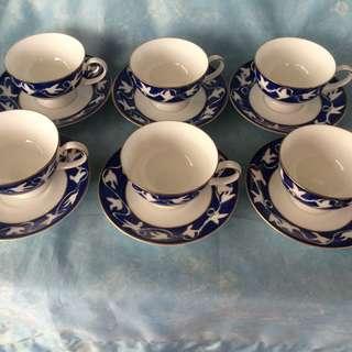 YSL Fine Bone China Tea Cups