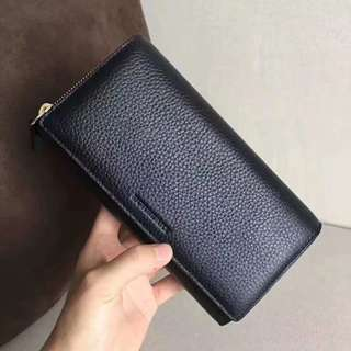 Burberry Long Wallet Purse 黑色長款真皮銀包