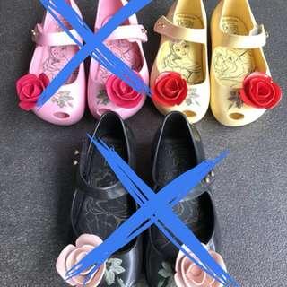 Mini Melissa Limited Edition Beauty & The Beast Shoes Sz US8