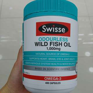 Swisse Odourless Wild Fish Oil 無腥味深海魚油 1000mg 400粒