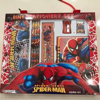 Spider man stationary set