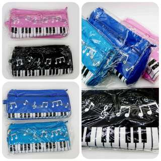 Piano pencil cosmetic canvas case (free delivery)