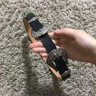 BN Victorian Silver Black Belt