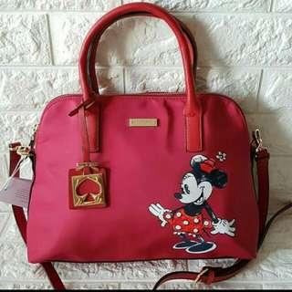 FREE SHIP Kate Spade bag Nylon Satchel handbag sling crossbody - red, minnie