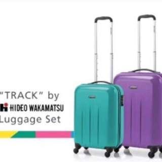 """HIDEO WAKAMATSU """"TRACK"""" 系列20吋及24吋套裝旅行箱 (紫色)"""