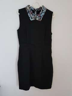 Cut Label Black Dress