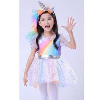 Unicorn rainbow 🌈 dress party birthday costume Halloween costume