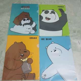 We bare bear A4 folder