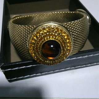 BRUNO MAGLI STYLISH ELEGANT GOLD SILVER PLATED 6.5cm