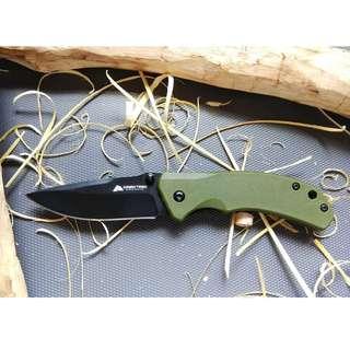 Ozark Green Scale Folding Knife - Bushcraft / Survival / EDC / Pocket Knife / Collectable Knife