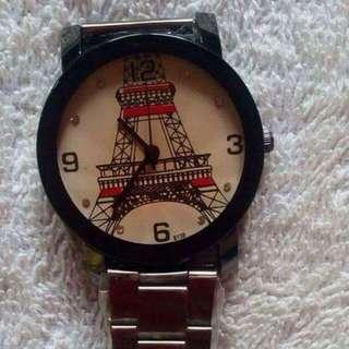 Big Eiffel Tower Black Vintage Watch For Him