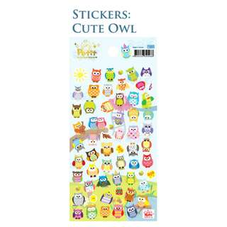 Stickers Stationery Cute Owl for Art and Craft Activity (free delivery)