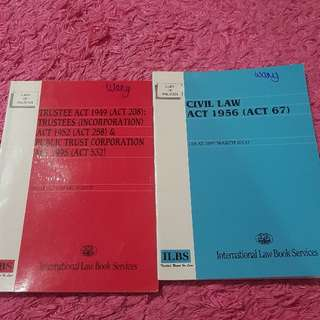various Law Acts at RM 8 each